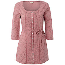 Buy White Stuff  Strawberry Gingham Tunic Top, Rhubarb Pink Online at johnlewis.com