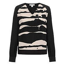 Buy Whistles Ink Blot Print Sweatshirt, Black Multi Online at johnlewis.com