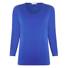 Buy Windsmoor Scoop Neck Top, Blue Online at johnlewis.com