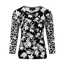 Buy Viyella Contrast Floral Jumper, Navy Online at johnlewis.com