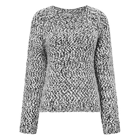 Buy Whistles Assis Monochrome Eyelash Jumper, Black Multi Online at johnlewis.com
