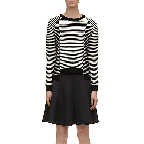 Buy Whistles Alice Mono Stripe Jumper, Black Multi Online at johnlewis.com