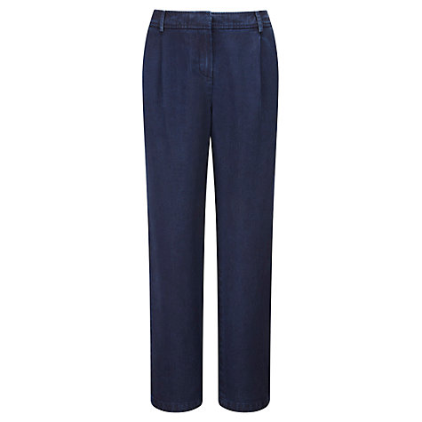 Buy Viyella Denim Tencel Parallel Trousers, Indigo Online at johnlewis.com