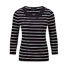 Buy Viyella Peter Pan Stripe Jersey Top, Ivory Online at johnlewis.com