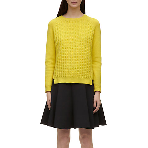 Buy Whistles Stitch Front Boxy Jumper, Yellow Online at johnlewis.com