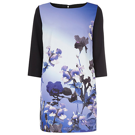 Buy Kaliko Orchid Print Tunic, Blue Online at johnlewis.com