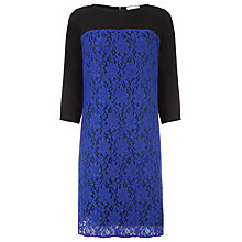 Buy Kaliko Lace Crepe Dress, Blue Online at johnlewis.com