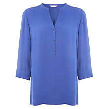 Buy Windsmoor Long Line Blouse, Cobalt Online at johnlewis.com