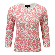 Buy Viyella Blossom Print Jumper, Shell Pink Online at johnlewis.com