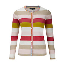 Buy Viyella Picnic Stripe Cardigan, Raspberry Online at johnlewis.com