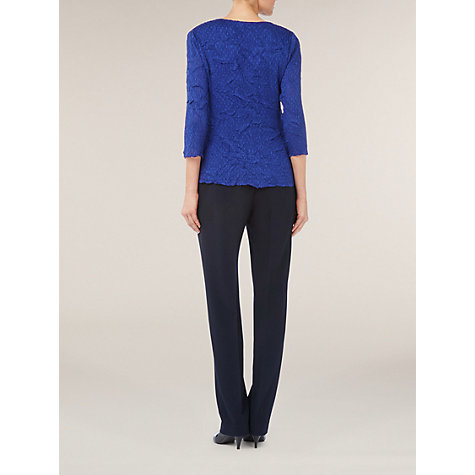 Buy Windsmoor Frill Crinkle Blouse, Cobalt Online at johnlewis.com