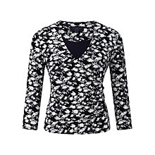 Buy Viyella Petite Silhouette Jersey Top, Navy Online at johnlewis.com