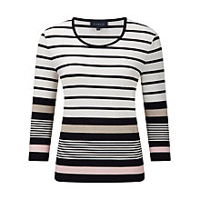 Buy Viyella Neopolitan Jersey Top, Ivory Online at johnlewis.com