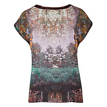 Buy Ted Baker Heelah Magical Mist Print Tee, Deep Purple Online at johnlewis.com