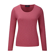 Buy Viyella Stripe Jersey Top, Raspberry Online at johnlewis.com