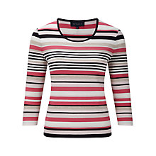 Buy Viyella Petite Stripe Jersey Top, Shell Pink Online at johnlewis.com