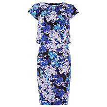 Buy Kaliko Silk Honour Print Dress, Blue Online at johnlewis.com