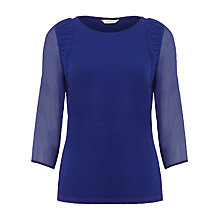 Buy Kaliko Rushed Shoulder Top, Blue Online at johnlewis.com