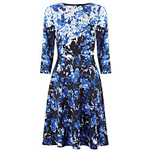 Buy Kaliko Eastern Lilly Skater Dress, Blue Online at johnlewis.com