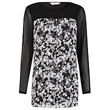 Buy Kaliko Suzie Floral Print Top, Black Online at johnlewis.com