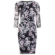 Buy Kaliko Suzie Printed Day Dress, Black Online at johnlewis.com