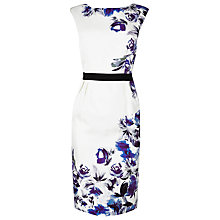 Buy L.K. Bennett Madina Silk Printed Dress, Blue/Cream Online at johnlewis.com