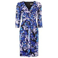 Buy Kaliko Honour Print Wrap Dress, Blue Online at johnlewis.com