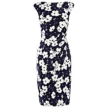 Buy Phase Eight Pansy Dress, Navy/Ivory Online at johnlewis.com