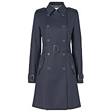 Buy L.K. Bennett Duran Cotton Trench Coat, Dark Navy Online at johnlewis.com