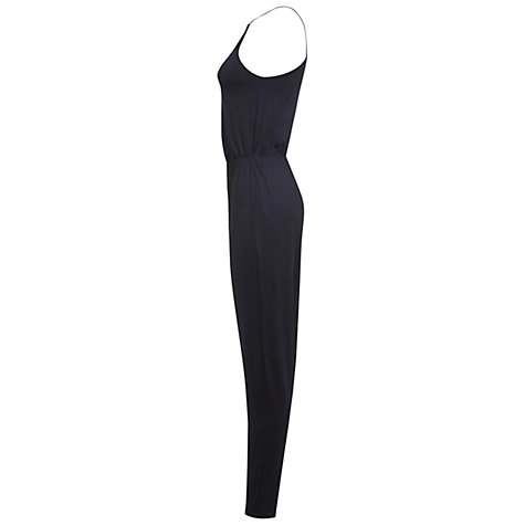 Buy Miss Selfridge Slinky Tapered Jumpsuit, Black Online at johnlewis.com