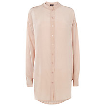 Buy Phase Eight Frances Silk Shirt, Pale Pink Online at johnlewis.com