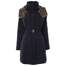 Buy Phase Eight Freya Padded Coat, Navy Online at johnlewis.com