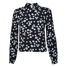 Buy Miss Selfridge Daisy Print Collar Shirt, Assorted Online at johnlewis.com