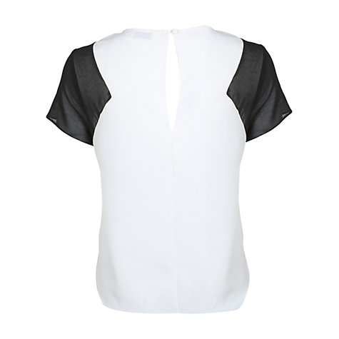 Buy Miss Selfridge Chiffon Insert T-Shirt, Assorted Online at johnlewis.com