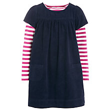 Buy John Lewis Girl Pinafore & T-Shirt Set, Navy/Pink Online at johnlewis.com