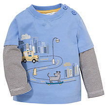Buy John Lewis Skating Dog Applique Top, Blue Online at johnlewis.com