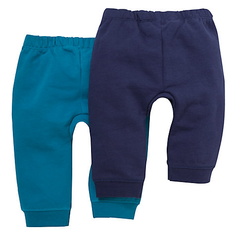 Buy John Lewis Jersey Joggers, Pack of 2, Navy/Turquoise Online at johnlewis.com