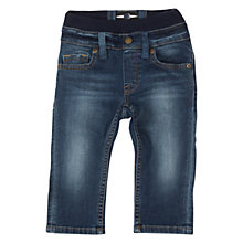 Buy Polarn O. Pyret Baby Stretch Waistband Classic Jeans, Blue Online at johnlewis.com