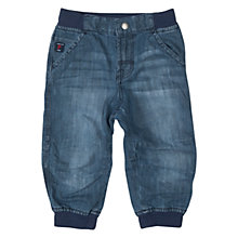 Buy Polarn O. Pyret Baby Stretch Waistband Jeans, Blue Online at johnlewis.com