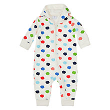 Buy Polarn O. Pyret Baby Cloud Print Sleepsuit, White/Multi Online at johnlewis.com