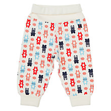 Buy Polarn O. Pyret Baby Animal Print Trousers, Cream/Multi Online at johnlewis.com