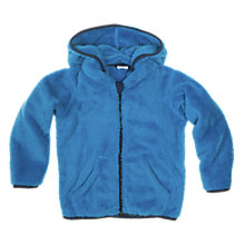 Buy Polarn O. Pyret Baby Pile Hooded Fleece, Blue Online at johnlewis.com