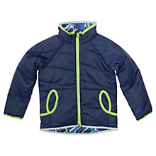 Buy Polarn O. Pyret Baby Reversible Jacket, Navy/Blue Online at johnlewis.com