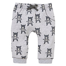 Buy John Lewis Repeat Bear Print Joggers, Grey Online at johnlewis.com