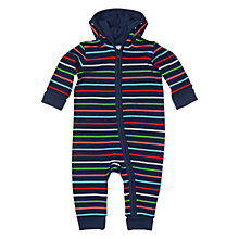 Buy Polarn O. Pyret Baby Stripe Sleepsuit, Navy/Multi Online at johnlewis.com