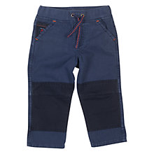 Buy Polarn O. Pyret Baby Canvas Trousers, Navy Online at johnlewis.com
