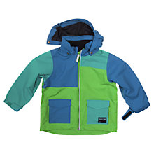 Buy Polarn O. Pyret Baby Colour Block Waterproof Coat, Green/Blue Online at johnlewis.com