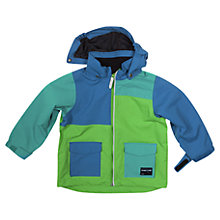 Buy Polarn O. Pyret Colour Block Waterproof Coat, Green/Blue Online at johnlewis.com