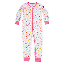 Buy Polarn O. Pyret Car Print Sleepsuit, White/Pink Online at johnlewis.com