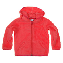 Buy Polarn O. Pyret Baby Pile Hooded Fleece, Pink Online at johnlewis.com